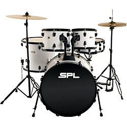Sound Percussion Unity - 5 Piece Drum Set with Hardware, Cymbals and Throne (D4522WH Kit)