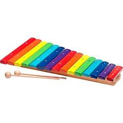 Stagg 2 Octave Rainbow Xylophone, 15Keys, C-C (XYLO-J15 RB)