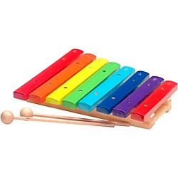 Stagg Rainbow Xylophone, 8 Keys, C-C (XYLO-J8 RB)