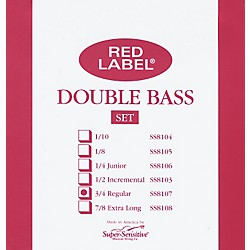Super Sensitive Red Label 3/4 Size Double Bass Strings (8107)