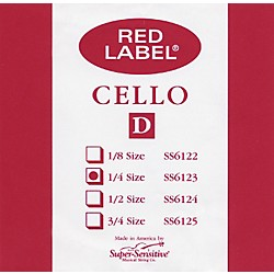 Super Sensitive Red Label Cello D String (6123)