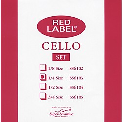 Super Sensitive Red Label Cello String Set (6103)