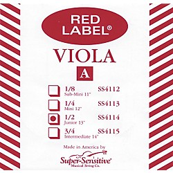 Super Sensitive Red Label Viola A String (4114)