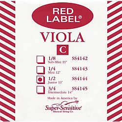Super Sensitive Red Label Viola C String (4144)