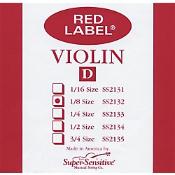 Super Sensitive Red Label Violin D String (2132)