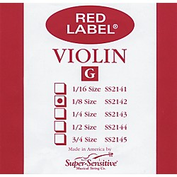 Super Sensitive Red Label Violin G String (2142)