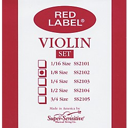 Super Sensitive Red Label Violin String Set (2102)