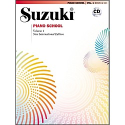 Suzuki Suzuki Piano School New International Edition Piano Book and CD Volume 1 (00-30030)