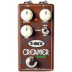 T-Rex Engineering 3-Mode Reverb Guitar Effects Pedal (CREAMER)