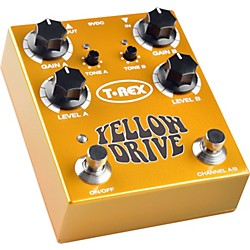 T-Rex Engineering Yellow Drive Distortion Guitar Effects Pedal (USED004000 YELLOW DRIVE)