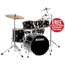 "TAMA Imperialstar 5-Piece Accel-Driver 20"" Bass Drum Set with Cymbals (IS50CBK)"