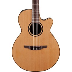 Takamine Pro Series 3 Folk Nylon Cutaway Acoustic-Electric Guitar (P3FCN_133824)