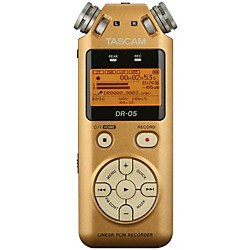 Tascam Special Edition Vintage Gold DR-05 Linear PCM Recorder (USED004000 DR-05VG)