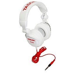 Tascam TH-02 Recording Studio Headphones (TH-02-W)
