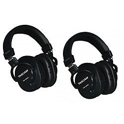 Tascam TH-200X Pro Studio Headphones (2-Pack) (TH-200X 2PK)