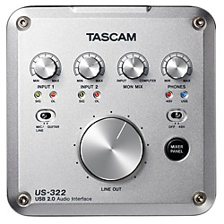 Tascam US-322 2x2 USB Audio Interface (US-322)
