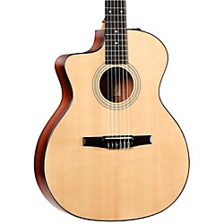 Taylor 214ce-N-L Rosewood/Spruce Nylon String Grand Auditorium Left-Handed Acoustic-Electric Guitar (214CE-N-L-2012)
