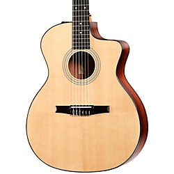 Taylor 214ce-N Rosewood/Spruce Nylon String Grand Auditorium Acoustic-Electric Guitar (214CE-N-2012)