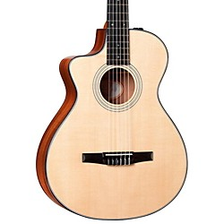 Taylor 312ce-N-L Sapele/Spruce Nylon String Grand Concert Left-Handed Acoustic-Electric Guitar (312CE-N-L-2012)