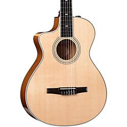 Taylor 412ce-N-L Ovangkol/Spruce Nylon String Grand Concert Left-Handed Acoustic-Electric Guitar (412CE-N-L-2012)