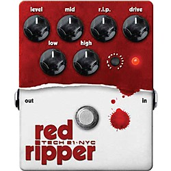 Tech 21 Red Ripper Distortion Bass Effects Pedal (USED004000 RIP)