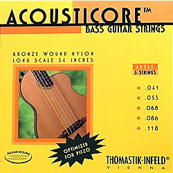Thomastik AB345 Acousticore Phosphor Bronze 5-String Bass Strings (AB345)