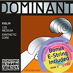 Thomastik Dominant 135 Bonus Set with Free Dominant Tin-Plated E String (135_129SN)
