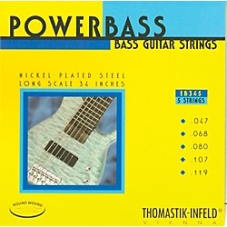 Thomastik EB345 Medium-Light Power Bass Roundwound 5-String Bass Strings (EB345)