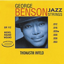 Thomastik GR112 George Benson Medium Light Custom Roundwound Guitar Strings (GR112)