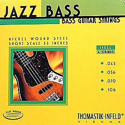 Thomastik JF324 Flatwound Short Scale 4-String Jazz Bass Strings (JF324)
