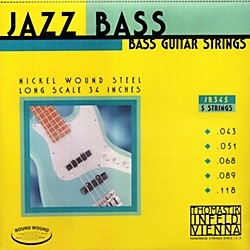 Thomastik JR345 Roundwound Scale 5-String Jazz Bass Strings (JR345)