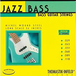 Thomastik JR346 Roundwound Scale 6-String Jazz Bass Strings (JR346)