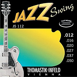 Thomastik JS112 Medium Light Flatwound Jazz Swing Electric Guitar Strings (JS112)