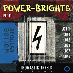 Thomastik PB111 Power-Brights Bottom Medium Electric Guitar Strings (PB111)