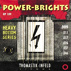Thomastik RP109 Power-Brights Heavy Bottom Light Top Electric Guitar Strings (RP109)