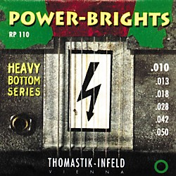 Thomastik RP110 Power-Brights Heavy Bottom Medium-Light Electric Guitar Strings (RP110)
