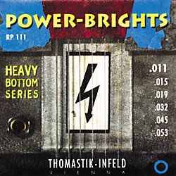 Thomastik RP111 Power-Brights Heavy Bottom Medium Top Electric Guitar Strings (RP111)