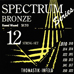 Thomastik SB210 Spectrum Bronze Extra-Light 12-String Acoustic Guitar Strings (SB210)