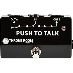 Throne Room Pedals Push To Talk Box Momentary XLR A/B Switcher (TRP-PTTB)