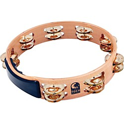 Toca Acacia Tambourine with Brass Jingles (T1010-AB)