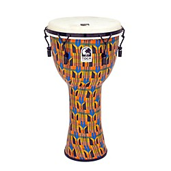 Toca Freestyle Djembe - Kente Cloth Mechanically Tuned (SFDMX-12K)