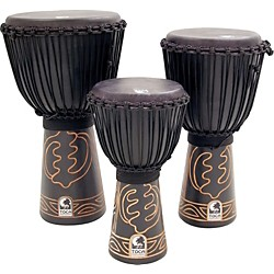 Toca Synergy Black Mamba Djembe with Bag and Djembe Hat (ABMD-12)