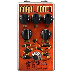 Tortuga Coral Adder British-Stortion Guitar Distortion Effects Pedal (CRL)