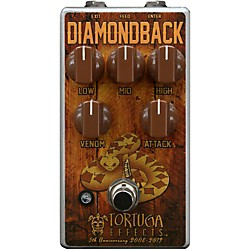 Tortuga Diamondback British Drive Guitar Overdrive Effects Pedal (DBK)