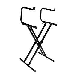 Ultimate Support IQ-2200 2-Tier Double-Braced X-Style Keyboard Stand (17478)