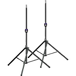 Ultimate Support TS-99BL Tall Leveling-Leg Speaker Stand Pair Black (TS-99BL KIT)