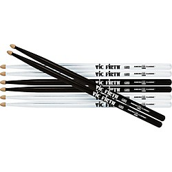 VIC FIRTH Buy 2-Pair White, 1-Pair Black & Get Black Pair FREE (P5BW.2-5BB.2)