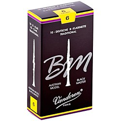Vandoren Black Master Traditional Bb Clarinet Reeds (CR187T)