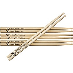 Vater Buy 3 Pair Mike Johnston 2451 Hickory Sticks Get 1 Maple Pair Free (VSPMJH1M)