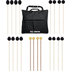 Vic Firth Keyboard Mallet 10-Pack w/ Free Mallet Bag - M182(2), M183(2), M187(2), M188(2) ,M134(2) (M-10P-2EACH)
